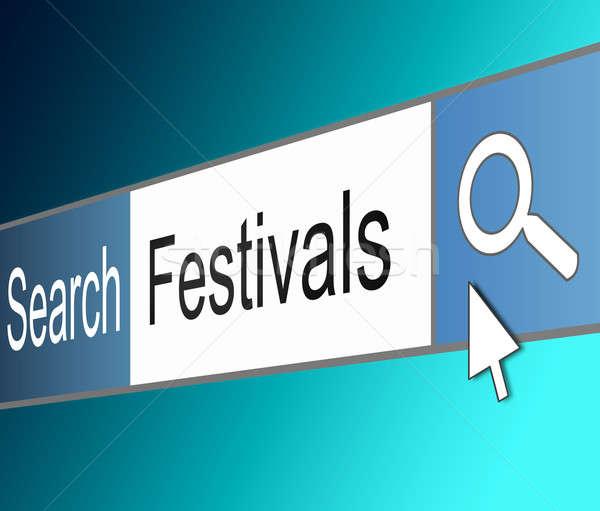 Festival illustrazione schermo shot internet ricerca Foto d'archivio © 72soul