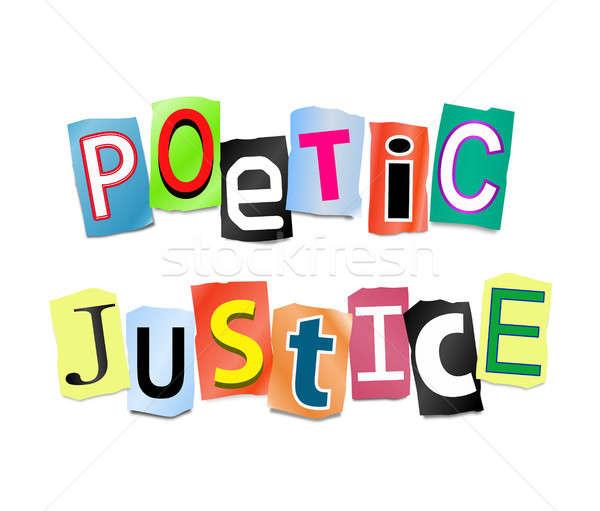 поэтический правосудия иллюстрация письма форме Сток-фото © 72soul