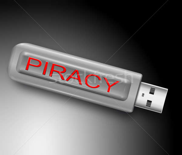 Piraterij illustratie usb flash drive computer pen Stockfoto © 72soul
