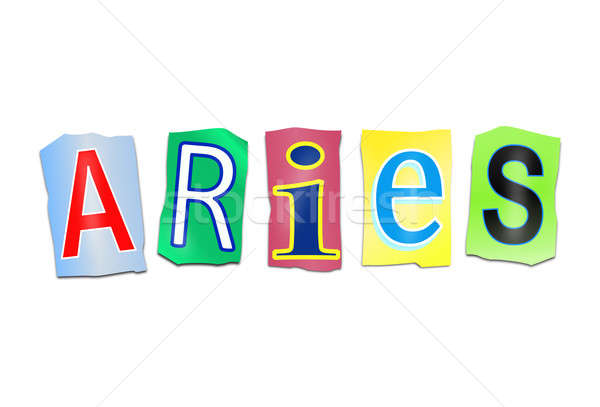 Aries word concept. Stock photo © 72soul