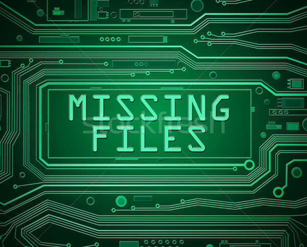 Missing files concept. Stock photo © 72soul