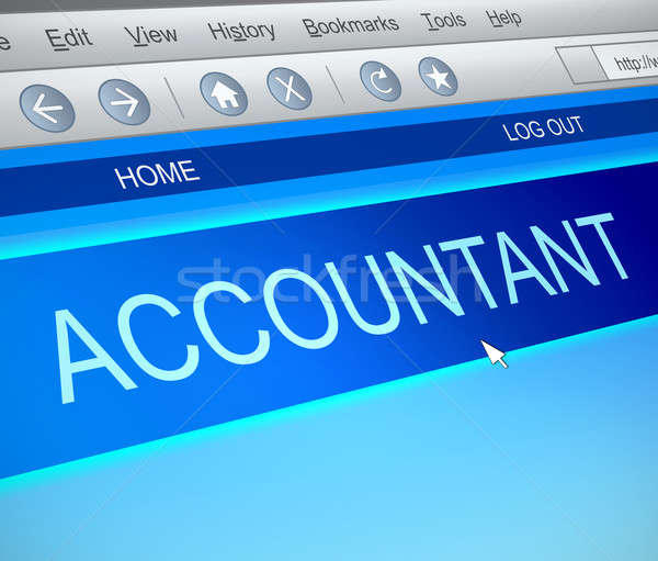 Accountant online concept. Stock photo © 72soul