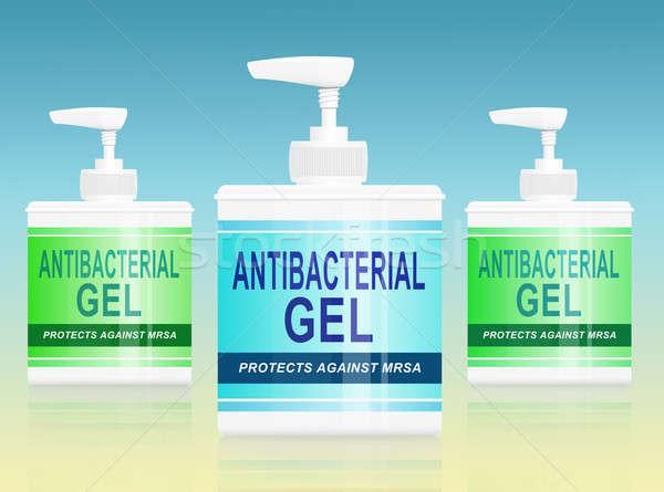 Antibacterial gel dispenser. Stock photo © 72soul