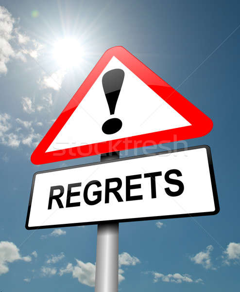 Stock photo: Regrets concept.