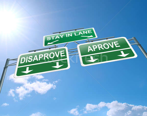 Approve or disapprove concept. Stock photo © 72soul