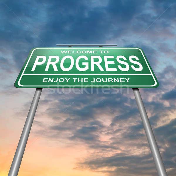 Vooruitgang illustratie groene donkere dramatisch Stockfoto © 72soul