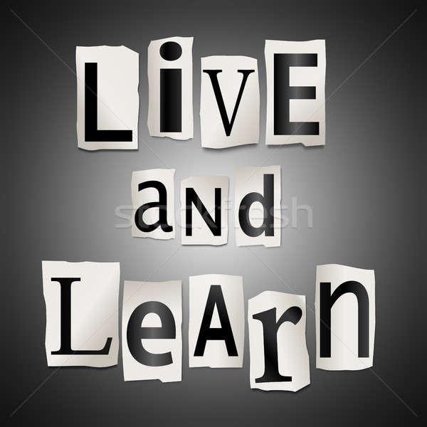 Yaşamak öğrenmek örnek harfler form Stok fotoğraf © 72soul