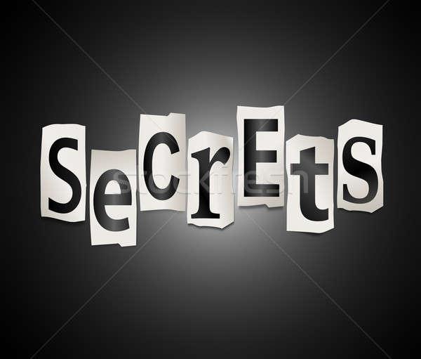 Секреты иллюстрация набор напечатанный письма Сток-фото © 72soul