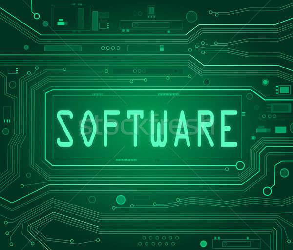 Software abstract stijl illustratie printplaat onderdelen Stockfoto © 72soul