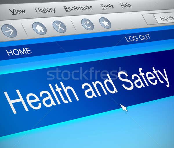 Gezondheid veiligheid illustratie computerscherm vangen computer Stockfoto © 72soul