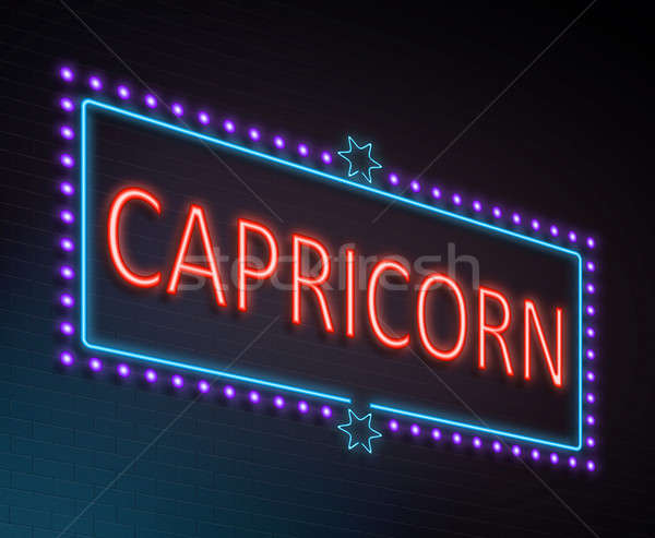Capricorn sign concept. Stock photo © 72soul