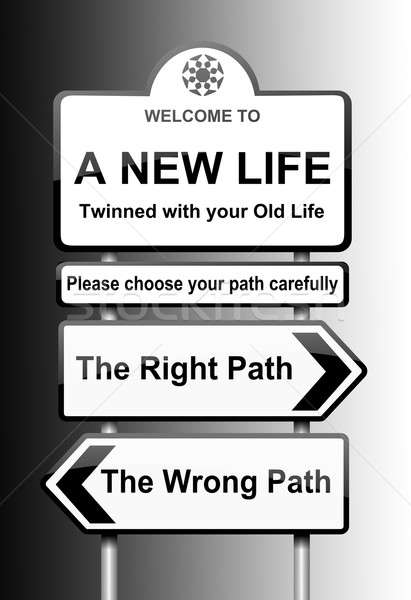 Choosing the right path. Stock photo © 72soul