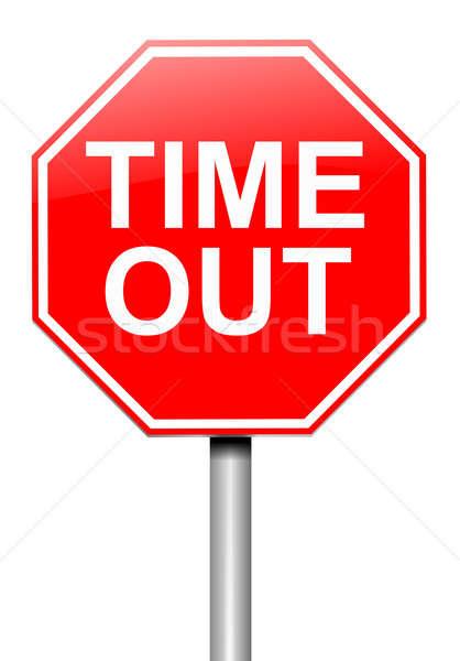 время из иллюстрация дорожный знак белый знак Сток-фото © 72soul