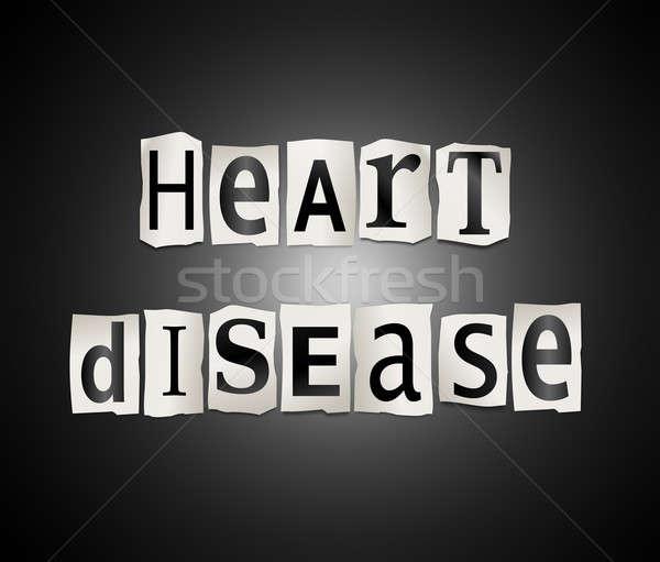 Malattie cardiache illustrazione stampata lettere forma Foto d'archivio © 72soul