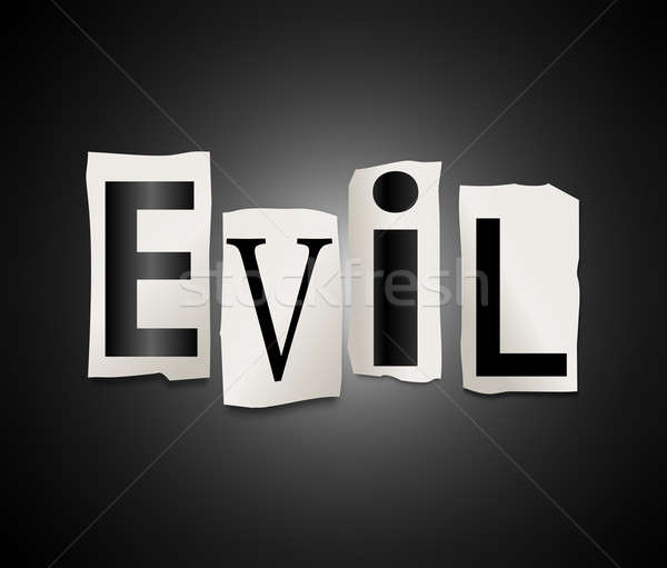Zło ilustracja wydrukowane litery formularza Zdjęcia stock © 72soul