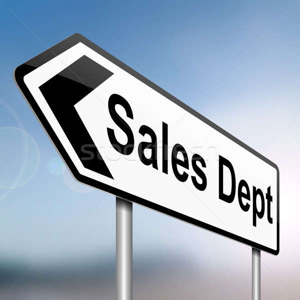 Sales dept concept. Stock photo © 72soul