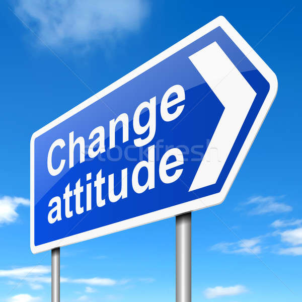 Change attitude concept. Stock photo © 72soul