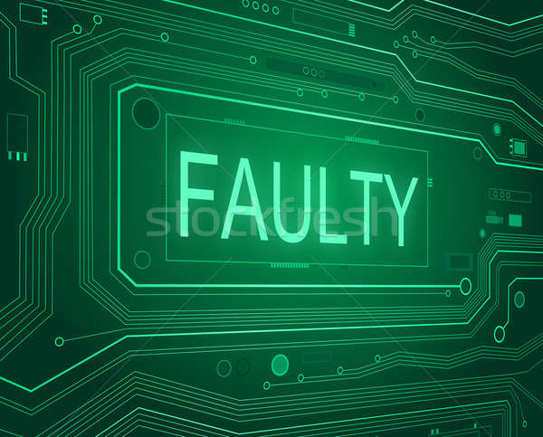 Faulty concept. Stock photo © 72soul