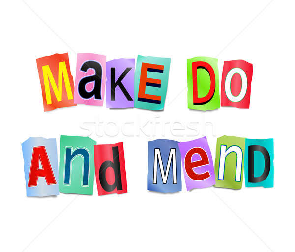 Make do and mend. Stock photo © 72soul