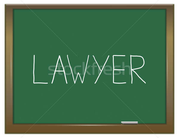 Rechtsanwalt Wort Illustration grünen Tafel Recht Stock foto © 72soul