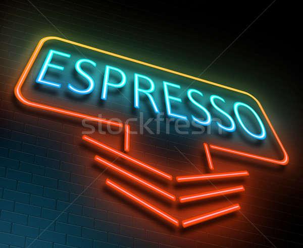 эспрессо знак иллюстрация кофе Сток-фото © 72soul