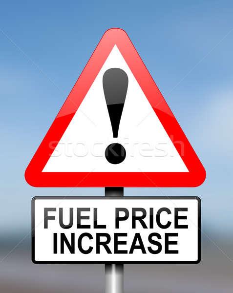 Fuel price warning. Stock photo © 72soul