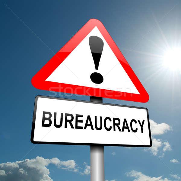 Burocracia ilustración carretera signo tráfico cielo azul cielo Foto stock © 72soul