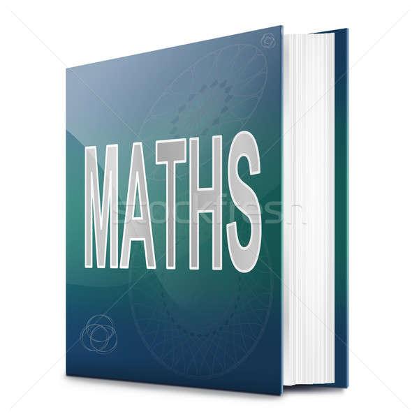 Matematik kitap örnek başlık beyaz okul Stok fotoğraf © 72soul