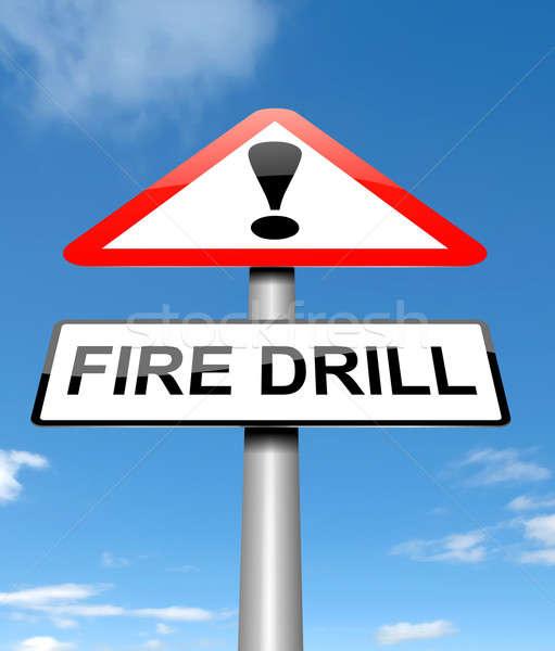 Fire drill concept. Stock photo © 72soul
