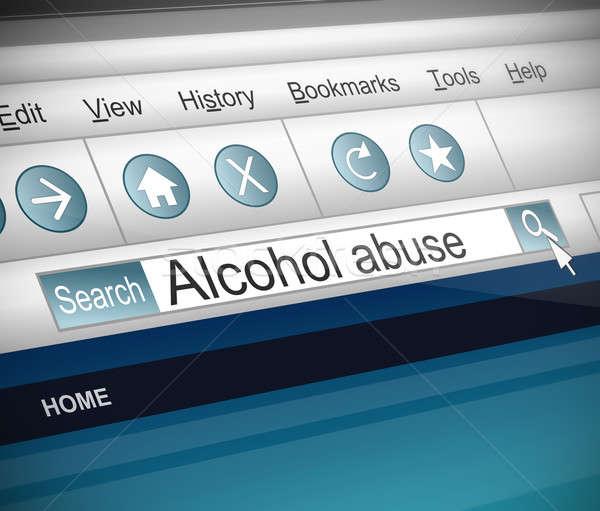 アルコール 虐待 実例 スクリーンショット インターネット 検索 ストックフォト © 72soul