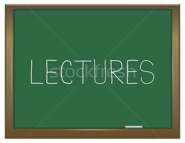 Ilustracja zielone Tablica szkoły edukacji klasy Zdjęcia stock © 72soul