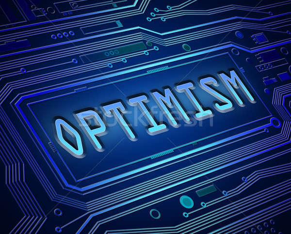 Tecnología optimismo resumen estilo ilustración Foto stock © 72soul