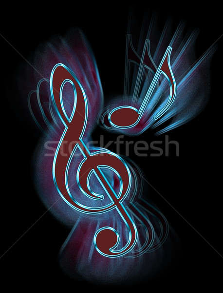 Musica simboli digitale abstract Foto d'archivio © 72soul