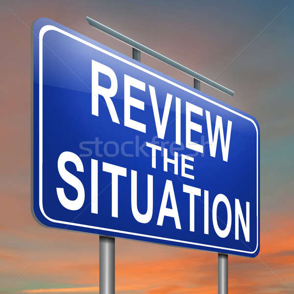 Review the situation. Stock photo © 72soul
