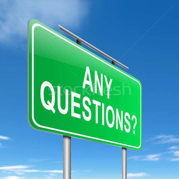 Vragen illustratie teken weg achtergrond helpen Stockfoto © 72soul