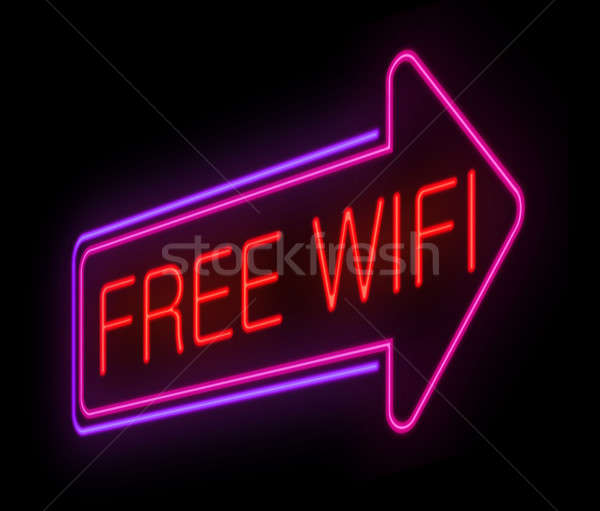 Free wifi concept. Stock photo © 72soul
