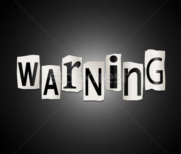Warning concept. Stock photo © 72soul