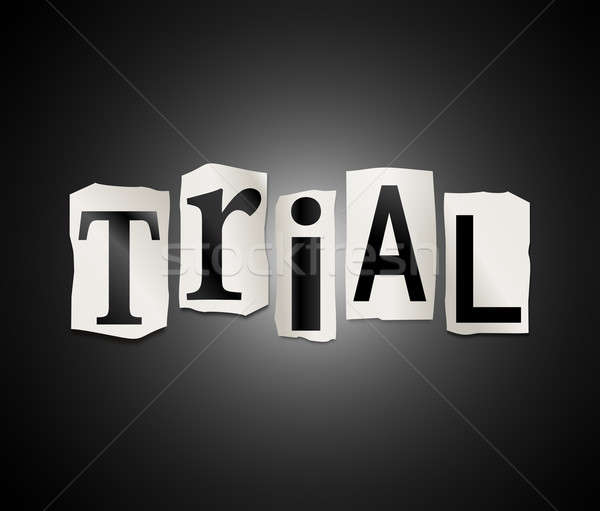 Trial concept. Stock photo © 72soul