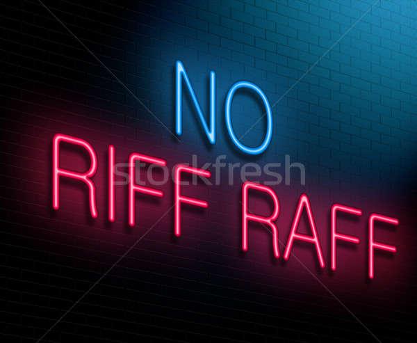 No riff raff concept. Stock photo © 72soul
