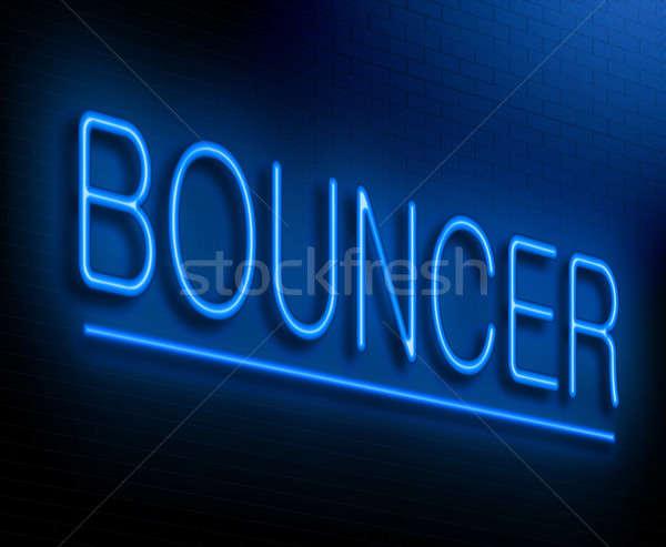Bouncer concept. Stock photo © 72soul