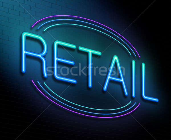 Detailhandel illustratie verlicht neonreclame winkel marketing Stockfoto © 72soul
