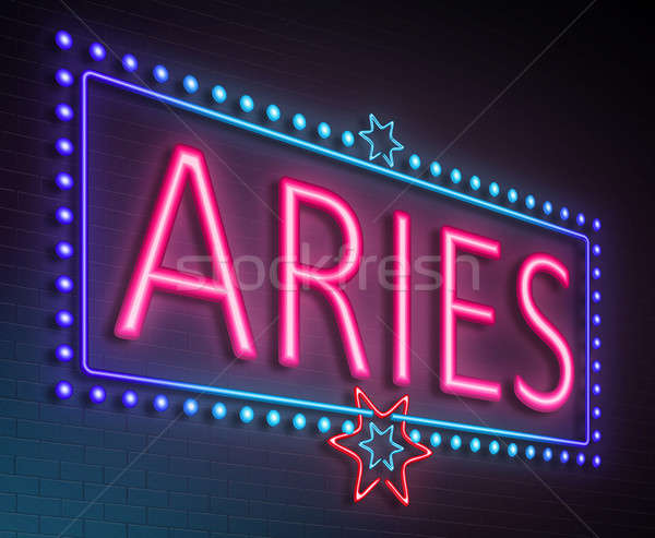 Aries neon sign. Stock photo © 72soul