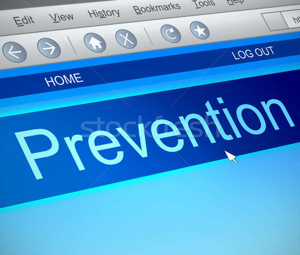 Prevention online concept. Stock photo © 72soul