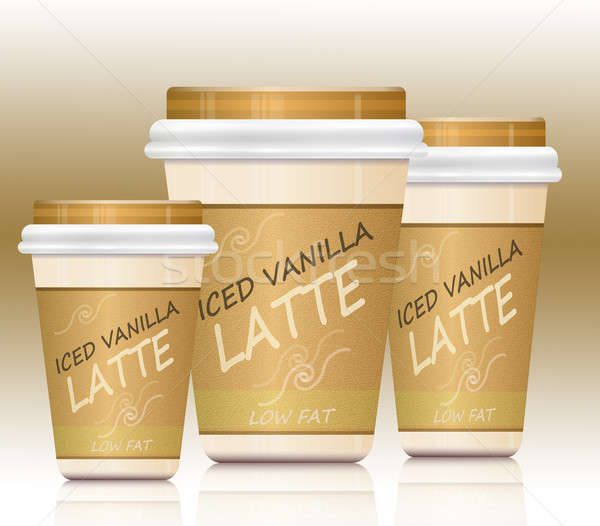 Iced vanilla lattes. Stock photo © 72soul