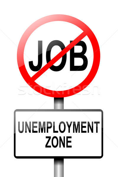 Werkloosheid illustratie weg verkeersbord witte geld Stockfoto © 72soul