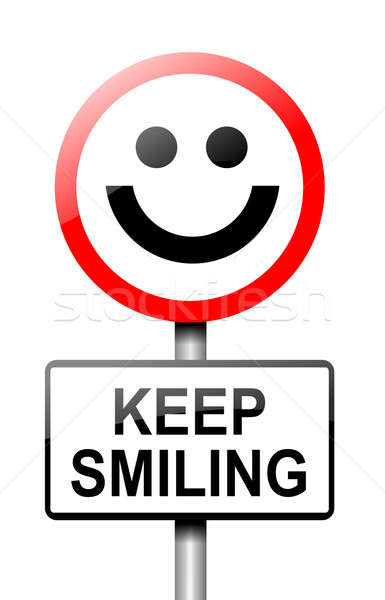 Keep smiling concept. Stock photo © 72soul