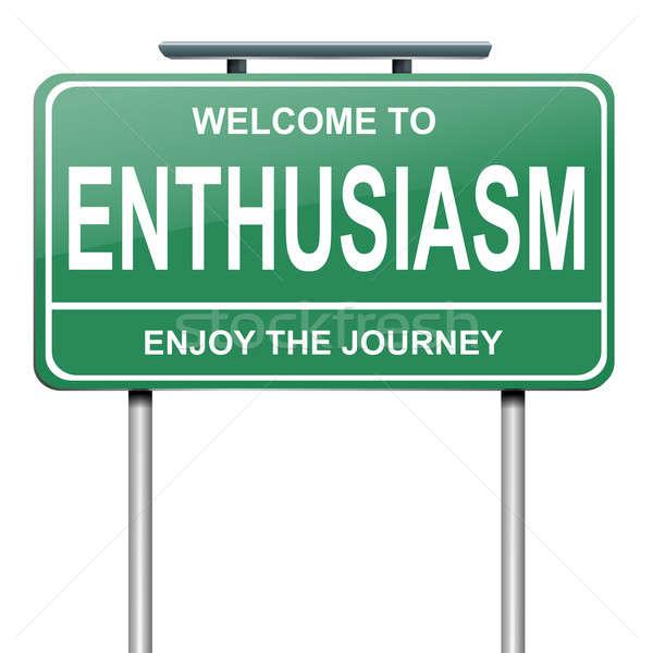 Entusiasmo illustrazione verde bianco felice Foto d'archivio © 72soul