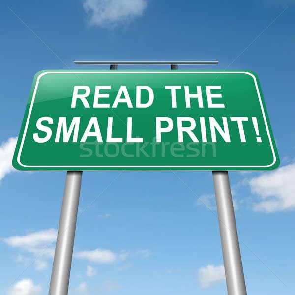 Pequeno imprimir ilustração ler céu Foto stock © 72soul