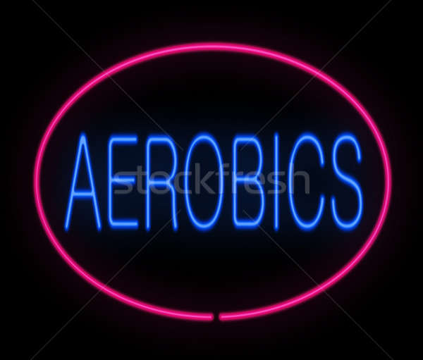 Aerobik illusztráció neon feliratozás sport fitnessz Stock fotó © 72soul