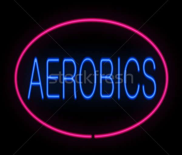 Aerobics concept. Stock photo © 72soul